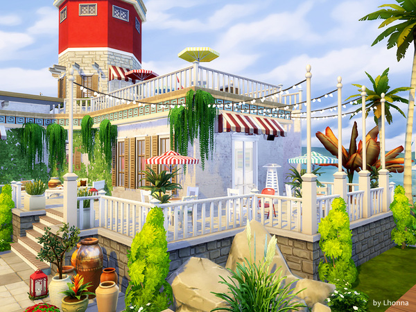 Sims 4 Lighthouse Cafe by Lhonna at TSR
