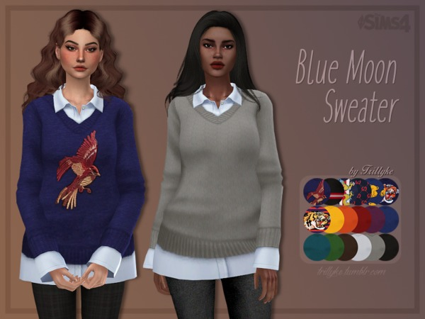 Blue Moon Sweater by Trillyke at TSR image 269 Sims 4 Updates