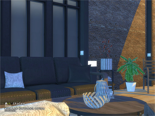 Sims 4 Chicago Outdoor Living by ArtVitalex at TSR
