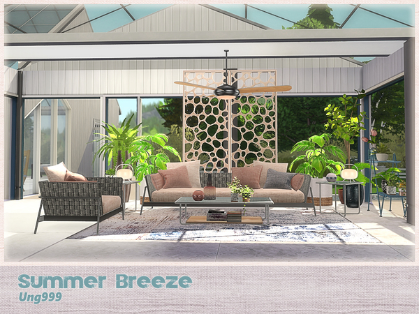 Summer Breeze livingroom by ung999 at TSR image 2720 Sims 4 Updates