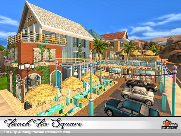 Beach Box Square by autaki at TSR image 2723 Sims 4 Updates