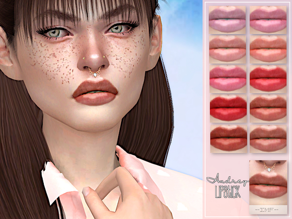 Sims 4 IMF Audrey Lipstick N.102 by IzzieMcFire at TSR