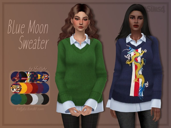 Blue Moon Sweater by Trillyke at TSR image 279 Sims 4 Updates
