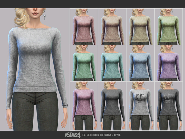 Simple sweaters F by sugar owl at TSR image 280 Sims 4 Updates
