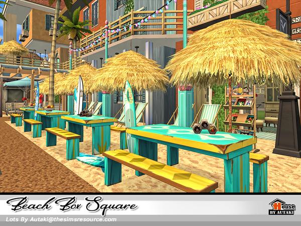 Sims 4 Beach Box Square by autaki at TSR