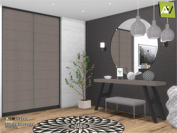 Lemire Hallway by ArtVitalex at TSR image 2913 Sims 4 Updates