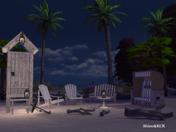 Beach furniture by ShinoKCR at TSR image 2920 Sims 4 Updates