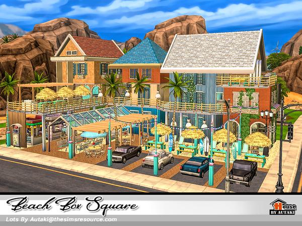 Beach Box Square by autaki at TSR image 2922 Sims 4 Updates