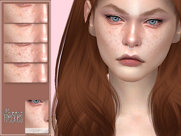 Sims 4 IMF Maggie Freckles N.03 by IzzieMcFire at TSR