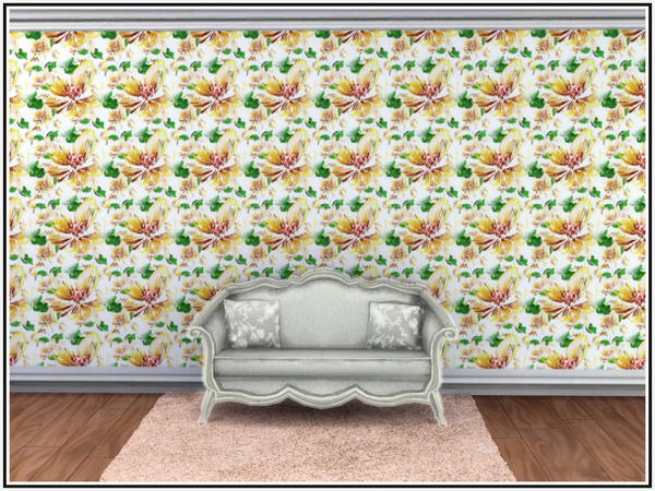 Apple Blossom Walls by marcorse at TSR image 3 Sims 4 Updates