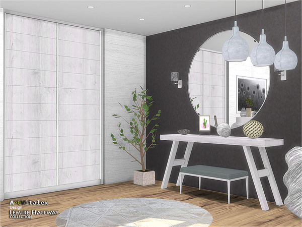Lemire Hallway by ArtVitalex at TSR image 3013 Sims 4 Updates
