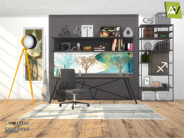 Karla Office by ArtVitalex at TSR image 3014 Sims 4 Updates