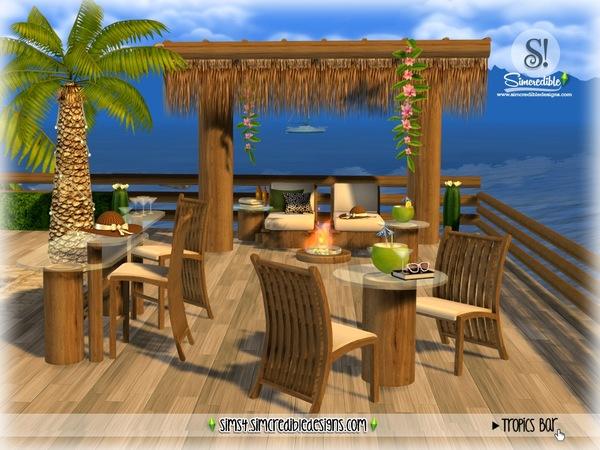 Sims 4 Tropics bar by SIMcredible at TSR