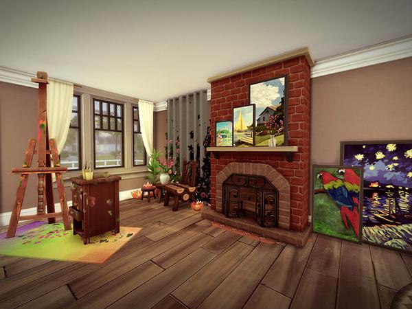 Sims 4 Laurelhurst house NO CC by melcastro91 at TSR