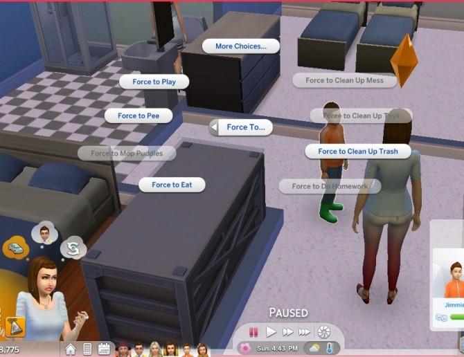 Sims 4 Parenting interactions updated and unlocked by Vmars at Mod The Sims