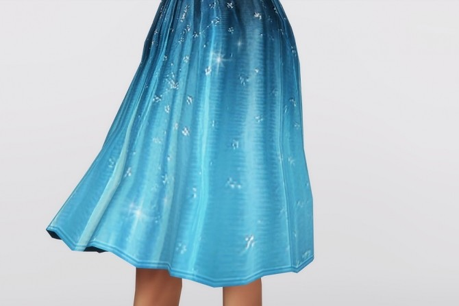 Sims 4 Embellished Blue Ombré Dress at Rusty Nail