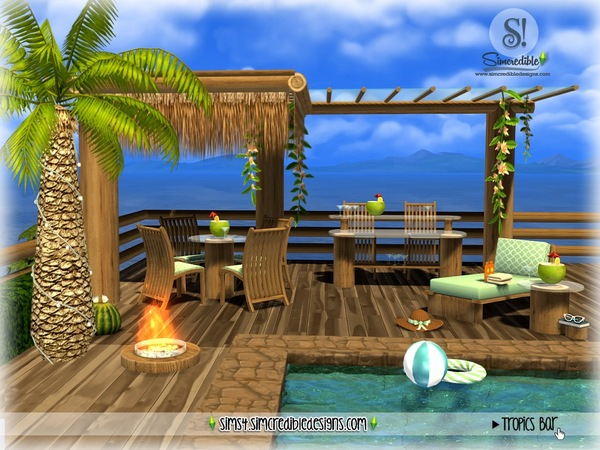 Tropics bar by SIMcredible at TSR image 3221 Sims 4 Updates
