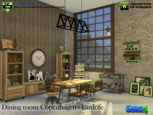 Dining room Copenhagen by kardofe at TSR image 325 Sims 4 Updates