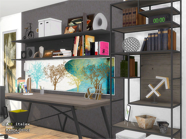 Karla Office by ArtVitalex at TSR image 3314 Sims 4 Updates