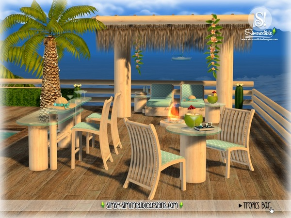 Tropics bar by SIMcredible at TSR image 3318 Sims 4 Updates