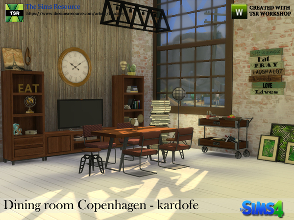 Dining room Copenhagen by kardofe at TSR image 335 Sims 4 Updates