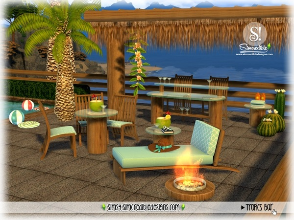 Tropics bar by SIMcredible at TSR image 3419 Sims 4 Updates