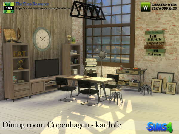 Dining room Copenhagen by kardofe at TSR image 345 Sims 4 Updates