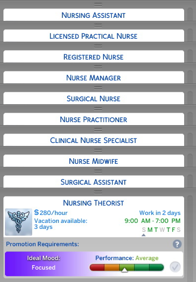 Nurse Career Replacement for Doctor Career by d unit at Mod The Sims image 3510 Sims 4 Updates