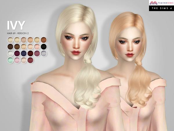 Sims 4 IVY Hair 69 Version 2 by TsminhSims at TSR