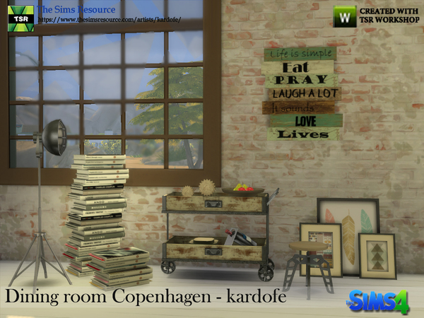 Dining room Copenhagen by kardofe at TSR image 355 Sims 4 Updates