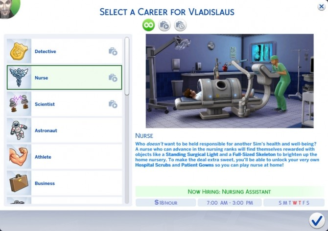 Nurse Career Replacement for Doctor Career by d unit at Mod The Sims image 3610 670x473 Sims 4 Updates