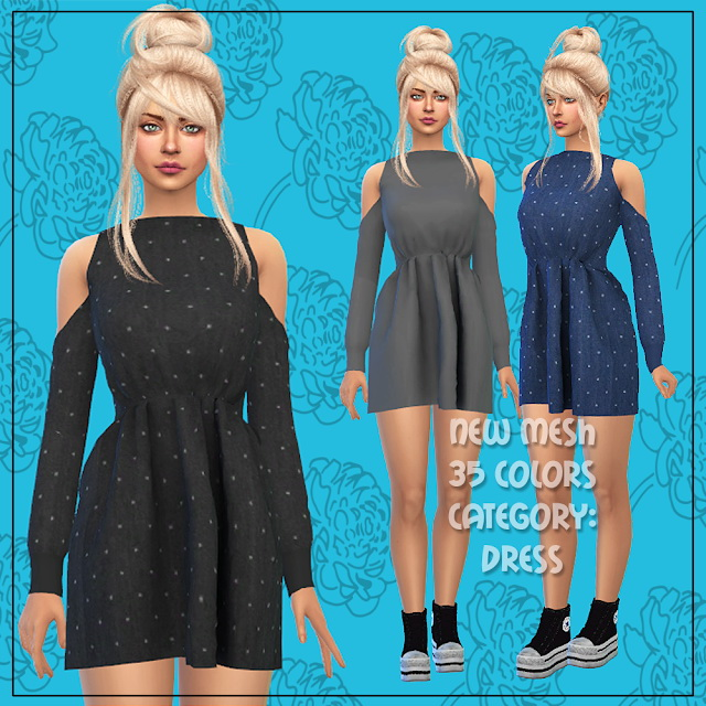 Dress 53 at All by Glaza image 3613 Sims 4 Updates