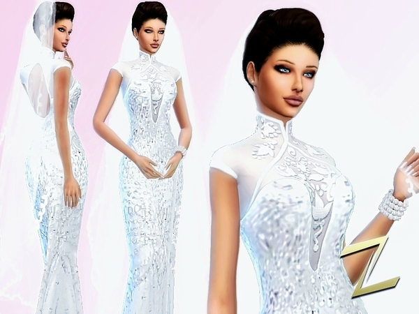 Wedding dress by ZitaRossouw at TSR image 3617 Sims 4 Updates