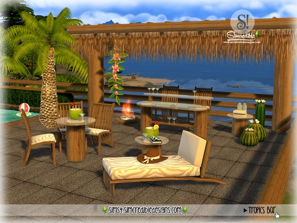 Tropics bar by SIMcredible at TSR image 3619 Sims 4 Updates