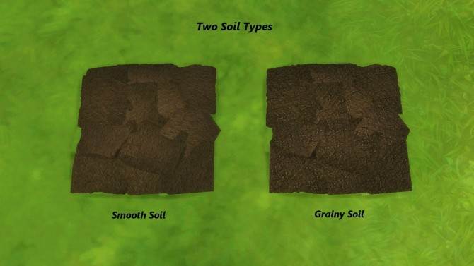 Sims 4 Farm and Orchard Raised Row Gardening Soil Squares by Snowhaze at Mod The Sims