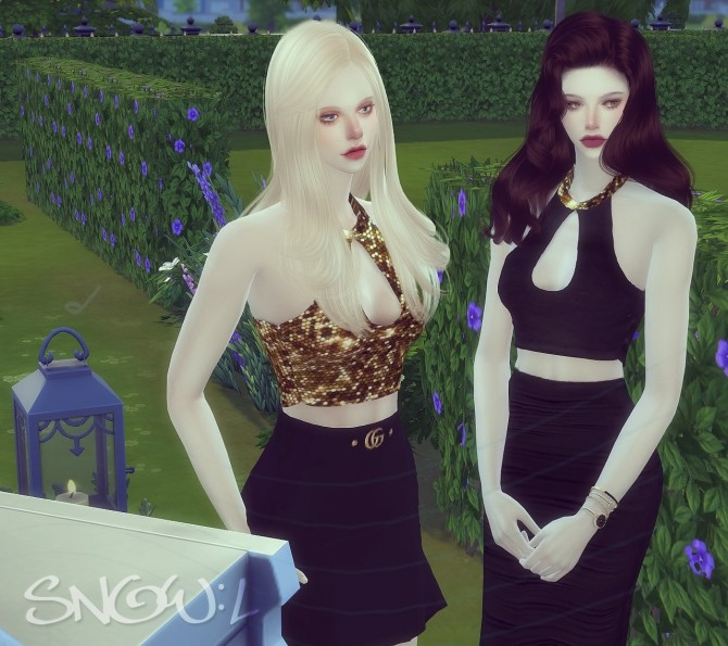 FT JW short top at SNOW:L image 369 670x595 Sims 4 Updates