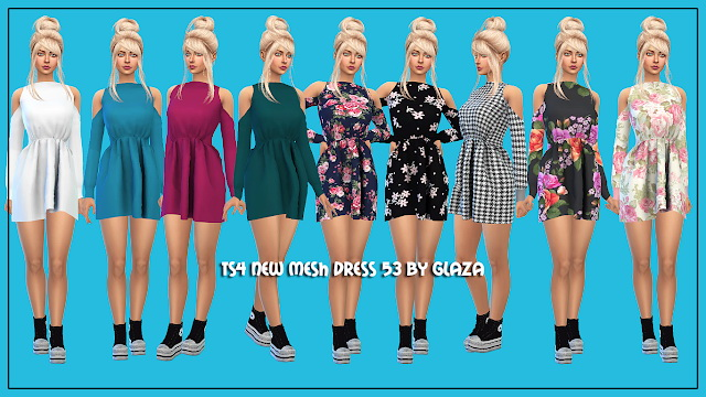 Dress 53 at All by Glaza image 3713 Sims 4 Updates
