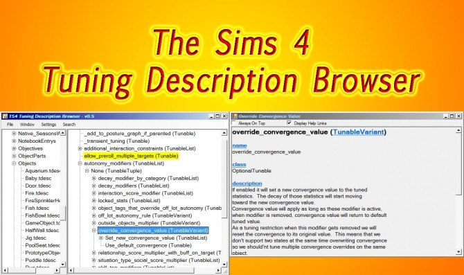 TS4 Tuning Description Browser (Windows Only) by scumbumbo at Mod The Sims image 3715 670x397 Sims 4 Updates