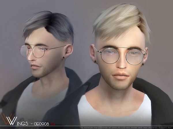 Sims 4 Hair OE0908 M by wingssims at TSR