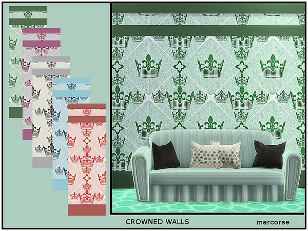 Crowned Walls by marcorse at TSR image 378 Sims 4 Updates