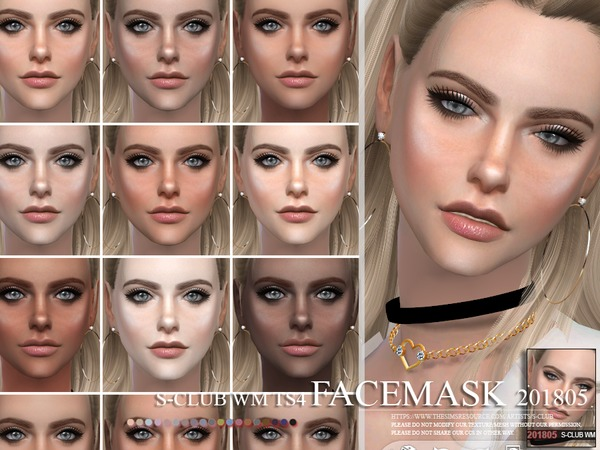 Facemask 201805 by S Club WM at TSR image 3816 Sims 4 Updates