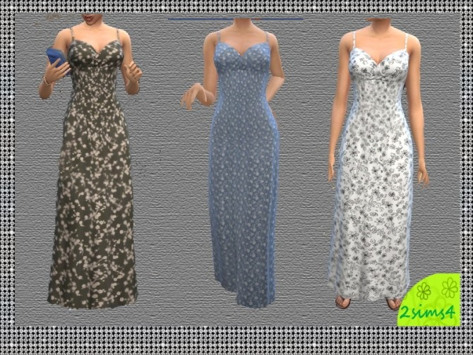 Sims 4 Everyday floral dresses 6 recolors by lurania at Mod The Sims