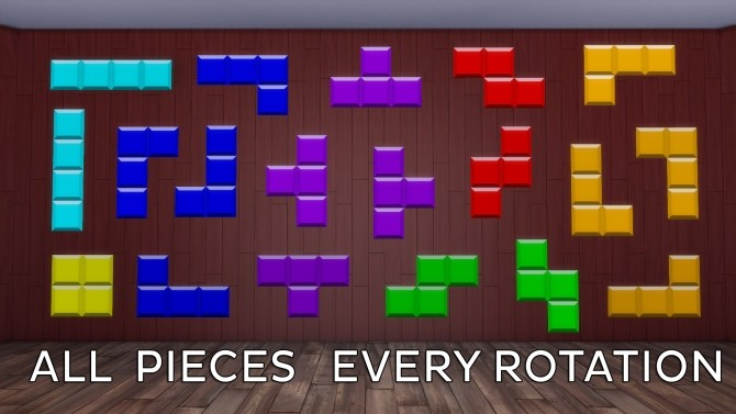 Tetris Wall Sticker by Ahinana at Mod The Sims image 383 670x377 Sims 4 Updates