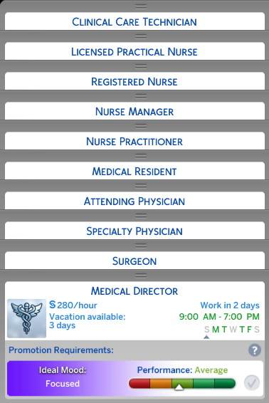 Doctor Career Job Titles Replacement by d unit at Mod The Sims image 3910 Sims 4 Updates