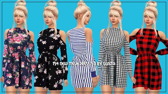 Dress 53 at All by Glaza image 3913 Sims 4 Updates