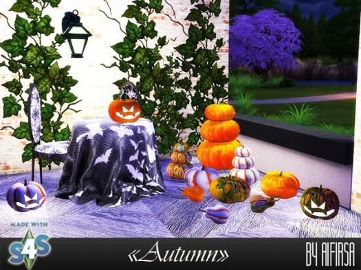 Sims 4 Autumn set at Aifirsa