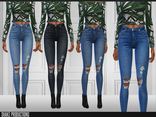Sims 4 170 Jeans by ShakeProductions at TSR