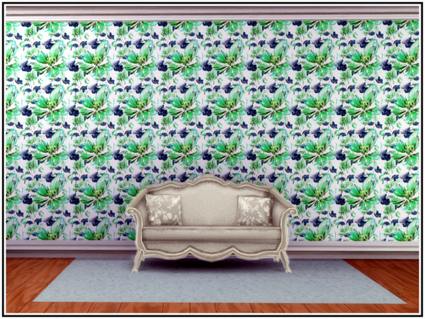 Apple Blossom Walls by marcorse at TSR image 4 Sims 4 Updates