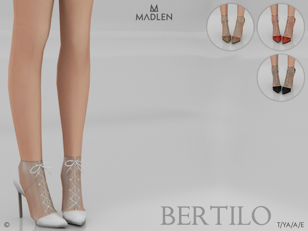 Sims 4 Madlen Bertilo Shoes by MJ95 at TSR