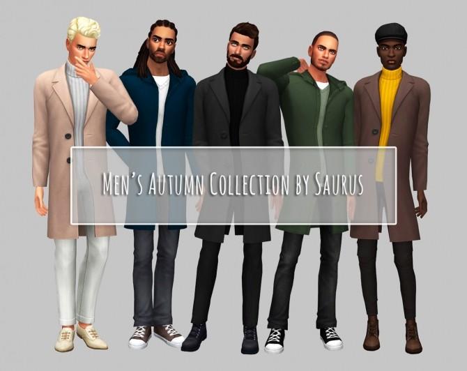 Sims 4 Men's Autumn Collection at Saurus Sims